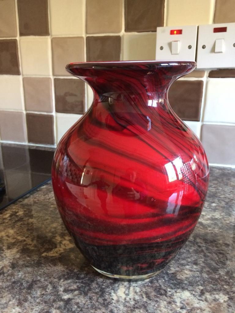 Black and red vase