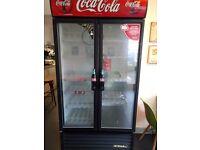 Coke fridge used