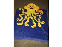 Brand new Octopus beach towel with hood