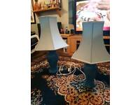 two lovely table lights