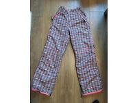 Pink Plaid Ski Trousers size 10/12