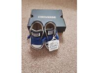 Baby boy Converse size 3