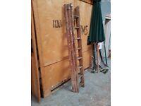 7ft extending wooden ladder