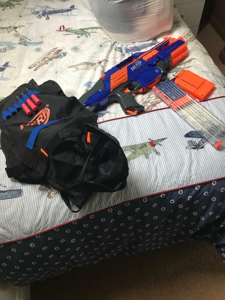 Kids nerf gun with bullets