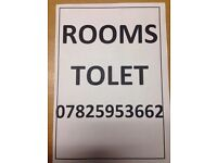 ROOMS TO LET DOUBLE ROOM FROM £75 P/W
