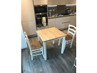 Dining table and 2 x chairs