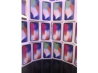 IPHONE X 256GB UNLOCKED BRAND NEW SEALED BOX OPEN ON ALL NETWORK AND APPLE WARRANTY