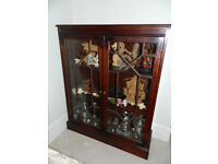 Two matching display cabinets