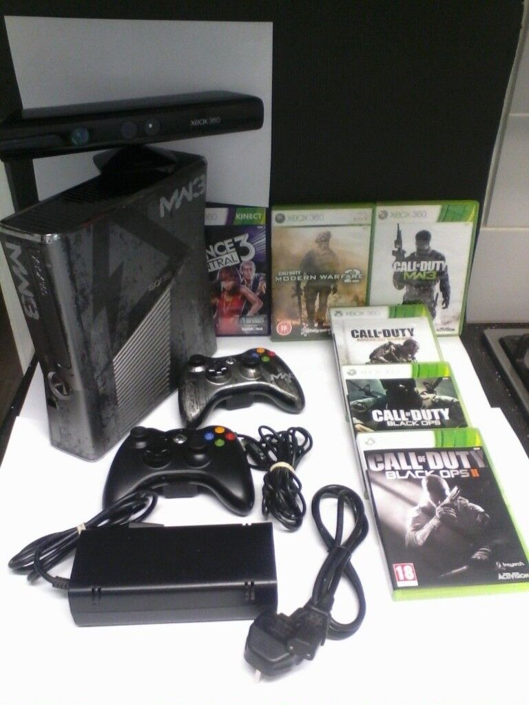 Xbox 360 Slim (320GB) COD: MW3 Limited Edition + 2 controllers + Kinect + 5  COD Games+Dance 3 Game | in Bexley, London | Gumtree
