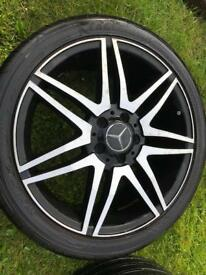 Mercedes E C Class AMG Styled Twin 7 Spoke alloys