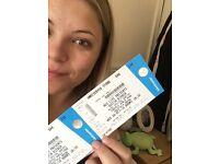 1 general standing ticket for Justin bieber Sheffield