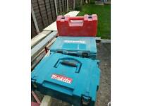 3 used power tool cases