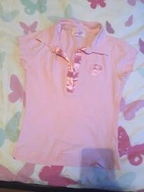 Pink polo shirt pineapple size s/m