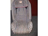 child car safety seat, removable cover for washing, adjustable headrest height £10