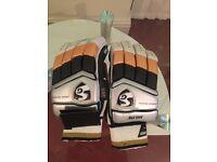 Men's left hand SG batting gloves for cricket.
