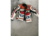 Genuine repsol leather jacket medium