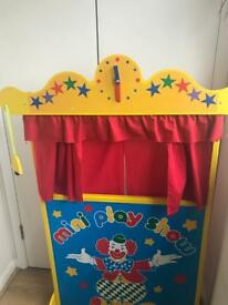 Wooden Puppet Theatre with puppets
