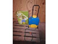 Battery powered weed sprayer