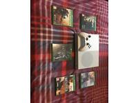 Xbox One S with games and 2 controllers