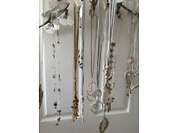 24 Assortment Necklaces Gold Silver Leather Charms Heart Bear Fairy Diamante Jewellery Gift