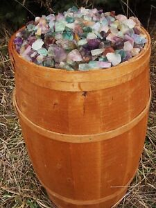 1000 Carat Lots of Unsearched Natural Flourite Rough + a Nice FREE faceted Gems