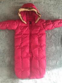 Baby Gap down filled snowsuit 6-12mths