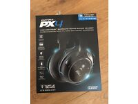 TURTLE BEACH EAR FORCE PX4 WIRELESS GAMING HEADSET HEADPHONES XBOX 360 PS4 PS3