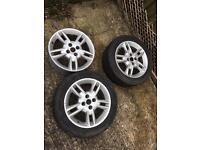 Fiat punto sporting 15'' alloy wheels x3