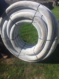 50m by 100mm Terram wrapped perforated drainage pipe