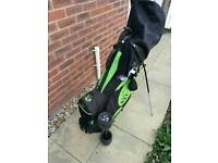 GOLF BAG/CARRY/TROLLEY WITH CLUBS