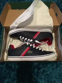 Genuine Lacoste boys trainers for sale