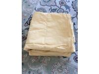 Pair of yellow pure cotton curtains