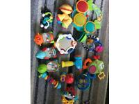 Collection of baby and toddler toys