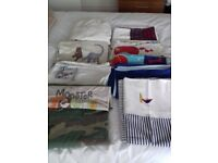 7 single duvet cover sets and 2 fitted sheets