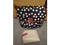 Navy Babymel bag & change mat