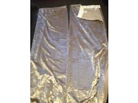 Gold crushed velvet curtains