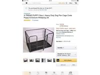 Dog cage, whelping pen