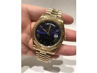 New Rolex Daydate Gold / Blue Dial 07864019608