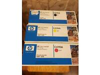 various black/colour printer ink cartridges