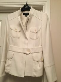 Zara, woman's jacket, off white. Size 10.