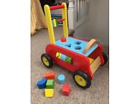 Traditional Vilac wooden activity walker ride-on toy