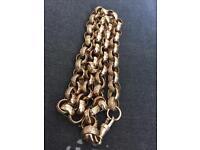 9ct Solid gold Belcher chain 26inch ( 108gram )