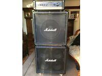 Marshall bass amp & cabinet set-up