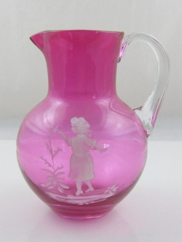 CRANBERRY GLASS MARY GREGORY JUG