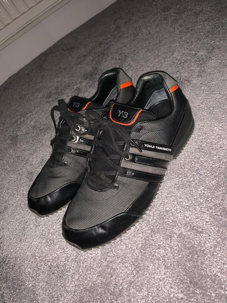 cf03cc5df18260 Men s Y3 Sprint Leath Trainers UK Size 8