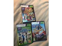 KINECT XBOX 360 THREE GAME BUNDLE Xbox games