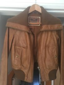 Women's brown faux leather jacket size 12
