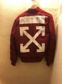 Off white jacket red