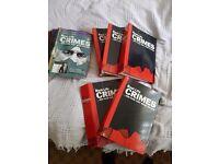 Crime books for sale