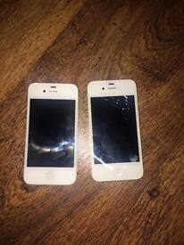 Two Broken iPhone 4